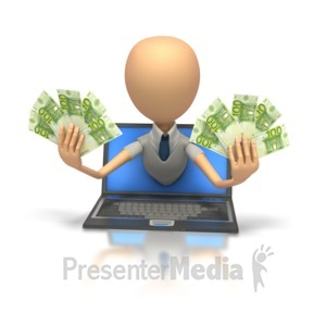 ID# 6298 - Internet Money Euro - Presentation Clipart