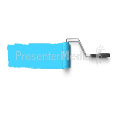 Roller Painting Wall PowerPoint Clip Art