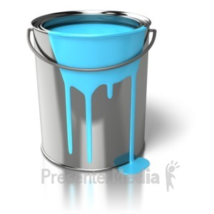 ID# 6325 - Paint Can Dripping - Presentation Clipart