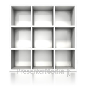 ID# 6343 - White Container Shelve - Presentation Clipart