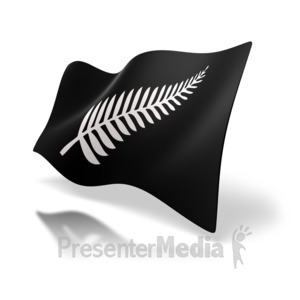 ID# 6361 - Unofficial New Zealand Flag - Presentation Clipart