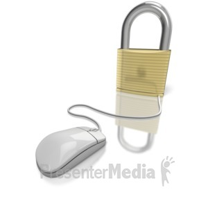 ID# 6363 - Secure Internet - Presentation Clipart