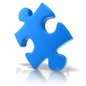 ID# 6379 - Single Puzzle Piece - Presentation Clipart