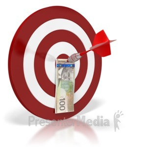 ID# 6432 - Canadian Bullseye Money - Presentation Clipart
