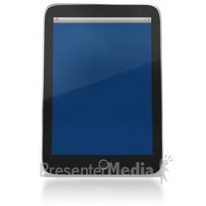 ID# 6442 - Tablet Computer Upright - Presentation Clipart