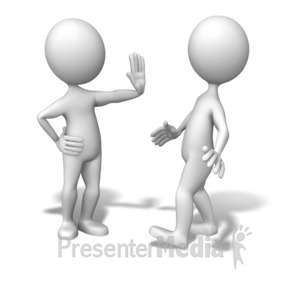 ID# 6448 - Stick Figure Stop Back Up - Presentation Clipart