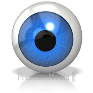 ID# 6490 - Single Eyeball - Presentation Clipart