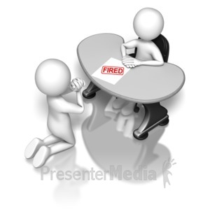 ID# 6535 - Begging To The Boss Fired - Presentation Clipart