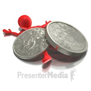 ID# 6554 - Nickel And Dimed - Presentation Clipart