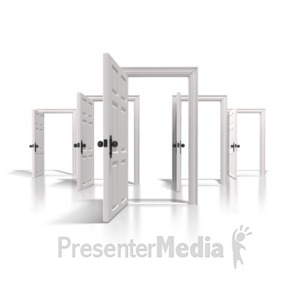 ID# 6555 - Doors Of Opportunity - Presentation Clipart
