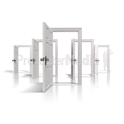 Doors Of Opportunity PowerPoint Clip Art
