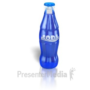 ID# 6589 - Soda Pop Bottle - Presentation Clipart