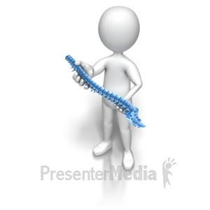ID# 6595 - Figure Holding Spinal Column - Presentation Clipart