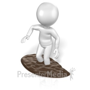 ID# 6609 - Stick Figure In The Mud - Presentation Clipart