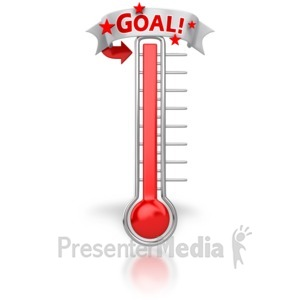 ID# 6650 - Thermometer Reached Our Goal - Presentation Clipart