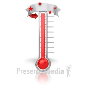ID# 6651 - Thermometer Blank Banner - Presentation Clipart