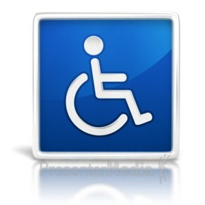 ID# 6674 - Handicapped Sign Glossy - Presentation Clipart