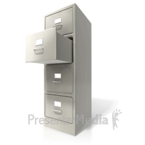 ID# 6676 - Office Cabinet Door Open - Presentation Clipart