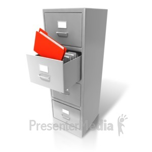 ID# 6687 - Office Cabinet Pull Out Files - Presentation Clipart
