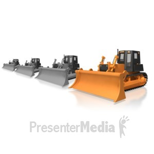 ID# 6688 - Construction Bulldozer Standout - Presentation Clipart