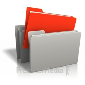 ID# 6699 - File Stand Out - Presentation Clipart