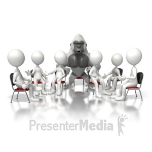 ID# 6720 - Gorilla In The Room - Presentation Clipart