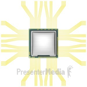 ID# 6772 - Cpu Component Top View - Presentation Clipart