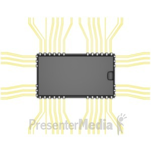 ID# 6774 - Electronic Component Top View - Presentation Clipart