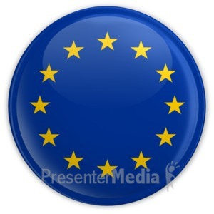 ID# 6786 - Badge Button European Union Flag - Presentation Clipart