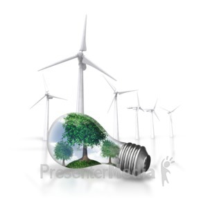 ID# 6796 - Nature Energy Wind Turbine - Presentation Clipart