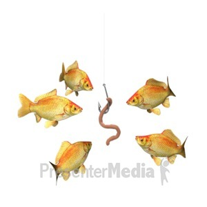 ID# 6820 - Risky Business Fish Bait - Presentation Clipart