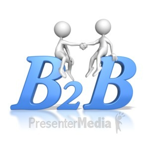 ID# 6834 - Stick Figures Business to Business Hand  - Presentation Clipart