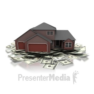 ID# 6835 - Save Money House - Presentation Clipart