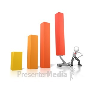 ID# 6870 - Jacking Up The Graph - Presentation Clipart