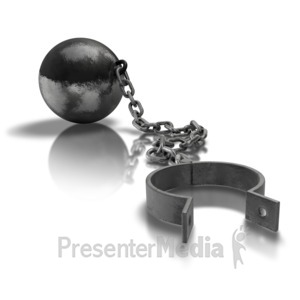 ID# 6876 - Ball And Chain Open - Presentation Clipart