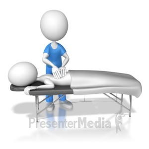 ID# 6895 - Getting Therapeutic Massage - Presentation Clipart