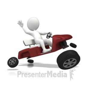ID# 6906 - Wheels Came Off - Presentation Clipart
