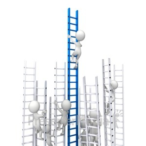 ID# 6915 - Competition Corporate Ladder - Presentation Clipart