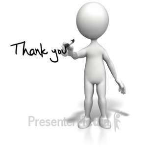 ID# 6923 - Stick Figure Drawing Thank You - Presentation Clipart