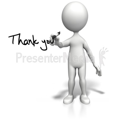 Stick Figure Drawing Thank You PowerPoint Clip Art