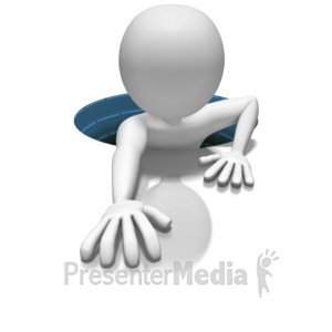 ID# 6932 - Stick Figure In Hole - Presentation Clipart