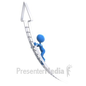 ID# 6934 - The Corporate Climb - Presentation Clipart