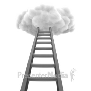 ID# 6938 - Ladder To Cloud - Presentation Clipart