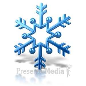 ID# 6941 - Snowflake Arrow Design - Presentation Clipart