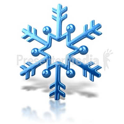 Snowflake Arrow Design PowerPoint Clip Art