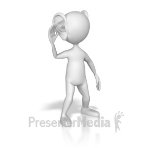 ID# 6950 - Be All Ears - Presentation Clipart