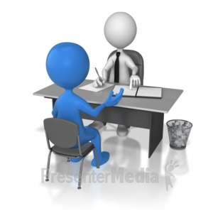 ID# 6951 - One On One Interview  - Presentation Clipart