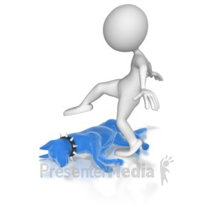 ID# 6958 - Let Sleeping Dog Lie - Presentation Clipart