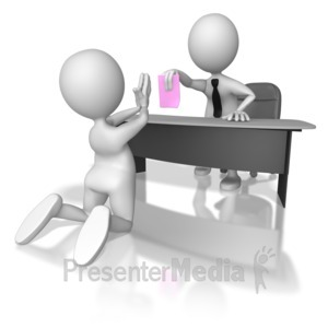 ID# 6959 - Getting the Pink Slip - Presentation Clipart