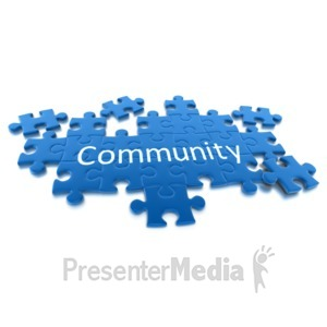 ID# 6966 - Puzzle Pieces Community - Presentation Clipart